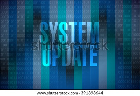System update binary sign concept illustration design graphic
