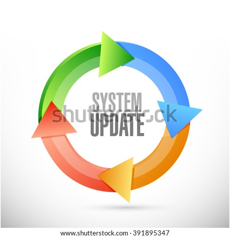 System update cycle sign concept illustration design graphic