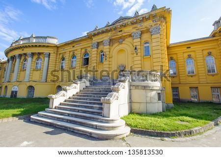 Szechenyi Medicinal Bath in Budapest - stock photo