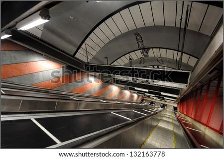 Sztockholm, subway stop King's Garden, Sweden, Europe - stock photo