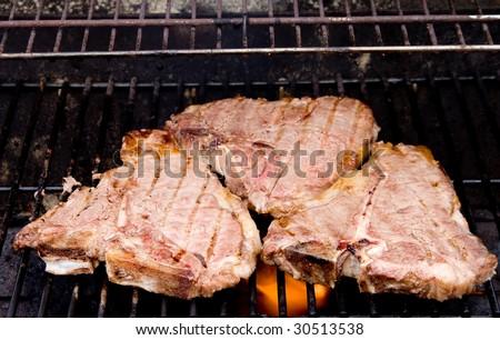 T-Bone Steaks - stock photo