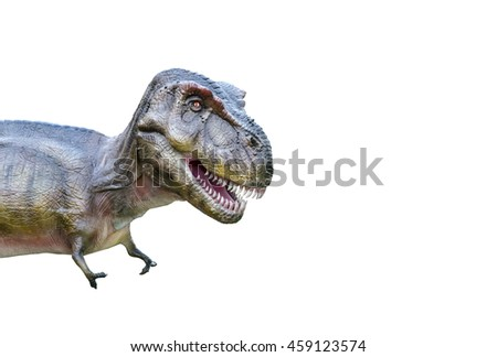 t rex dinosaur isolated on white background