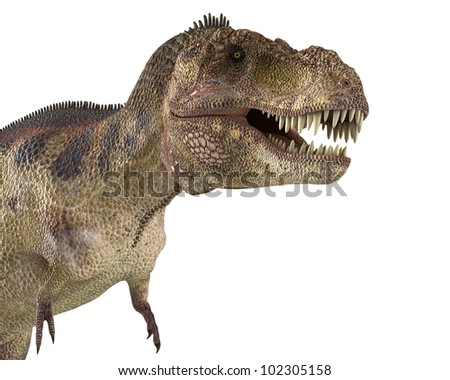 t rex just walking close up - stock photo