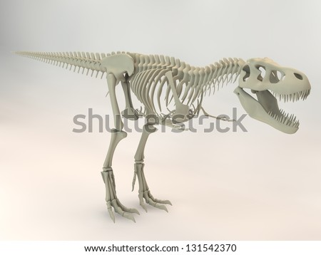 T-Rex skeleton - stock photo