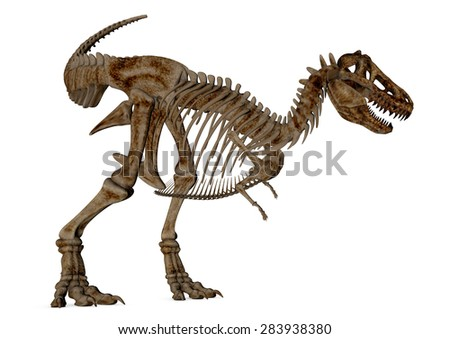 T-Rex-Skeleton 3D - stock photo