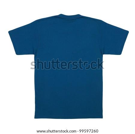t-shirt back isolated on white background - stock photo