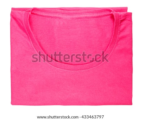 T-shirt isolated on white background clipping path