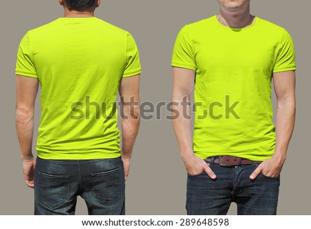T-shirt template - stock photo