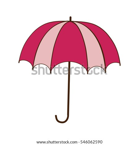 Romantic Card Umbrella Rain Hearts Stock Vector 107532131