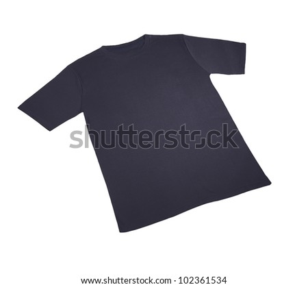 t shirts cotton dark blue isolated with shadow isolated on white background