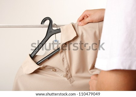 t-shirts on the hanger