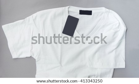 T-shirts with blank labels.