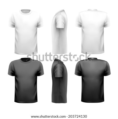 T-shirts with sample text space - stock photo
