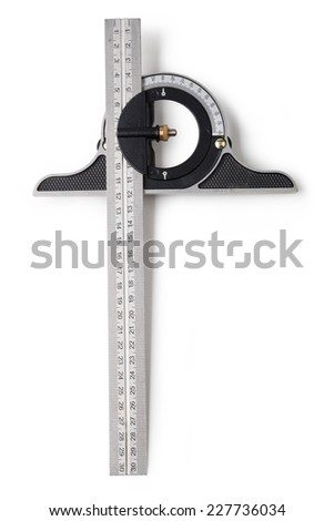 t-square isolated on a white background - stock photo