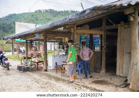 TA PHIN, LAO CAI, VIETNAM - SEP 21, 2014:  Ta Phin village  famous because of the minority ethnic group of Red Dao people who live here
