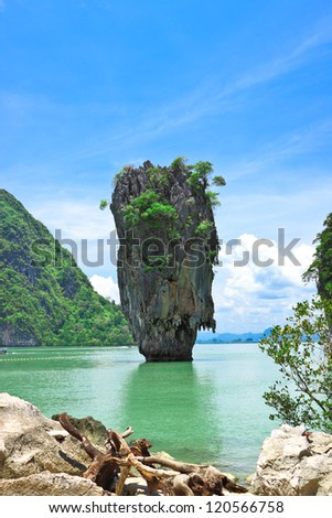 Ta Poo mountain,the landmark of Pang-nga,Thailand
