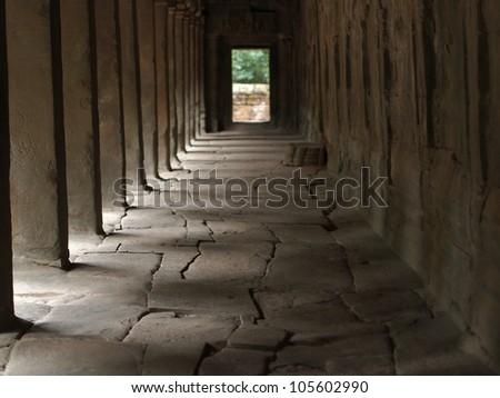 Ta Prohm Temple - Angkor, Cambodia - stock photo