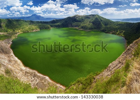 Taal - the smallest in the world volcano, Manila, Philippines - stock photo