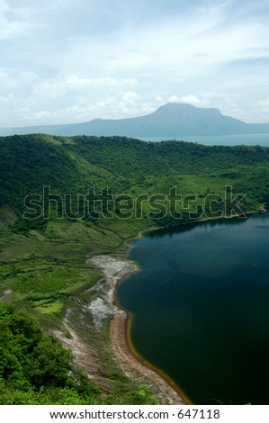 Taal volcano at Tagatay in the Philippines