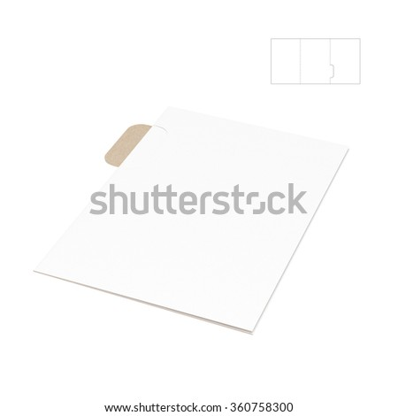 Tabbed Folder with Die Cut Template