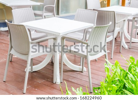 Table and chair - stock photo