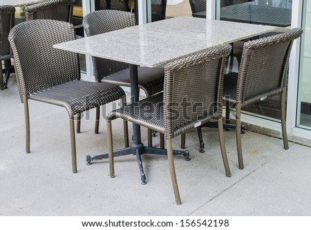 Table and chair for dinner