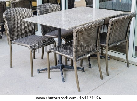 Table and chair for dinner - stock photo