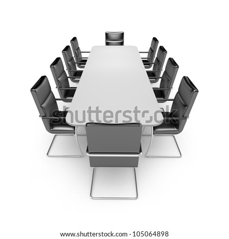 Table and chairs. Image contain clipping path - stock photo