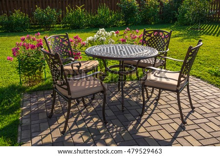 Garden Furniture On Grass garden furniture stock images, royalty-free images & vectors
