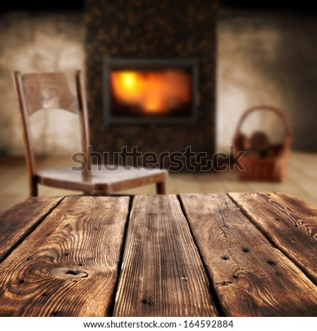 table and interior  - stock photo