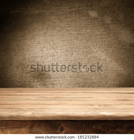 table and shadows  - stock photo