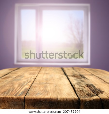 table and window  - stock photo