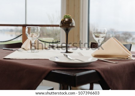 Table appointment at restaurant
