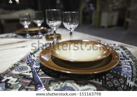 Table appointments     - stock photo