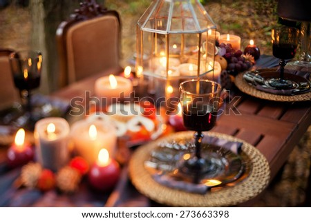 table appointments with beautiful decor
