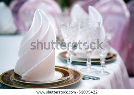 Table at restaurant. - stock photo