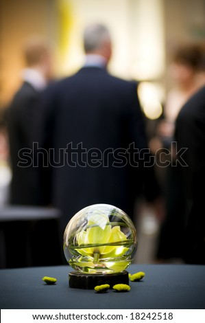 table center piece at business party - stock photo