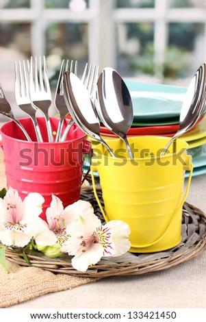 Table decoration - stock photo