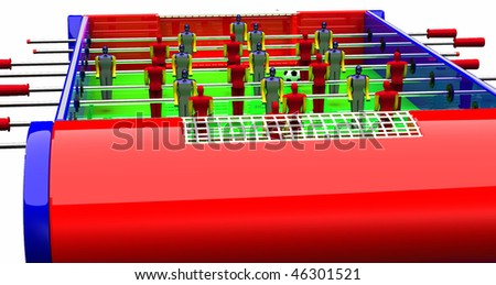 Table Football And Soccer Game - stock photo