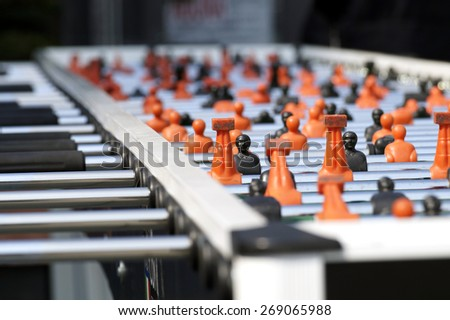 table football detail blurred - stock photo