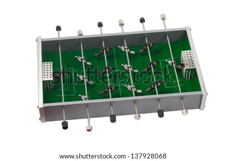 table football game is isolated board game white background clipping path
