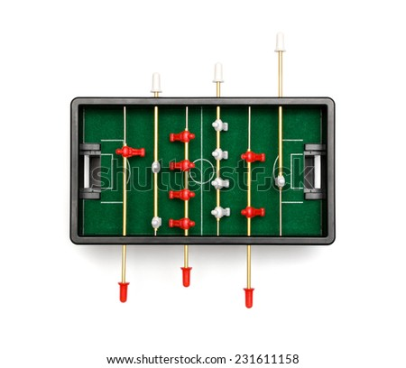 table football on a white background - stock photo