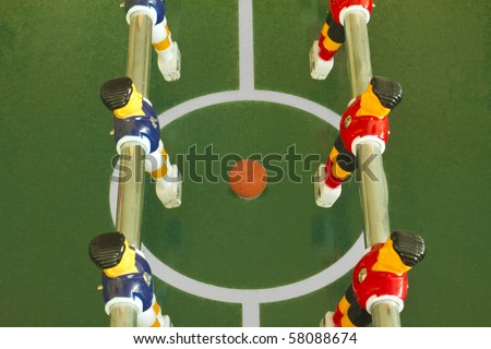 Table football or soccer - stock photo