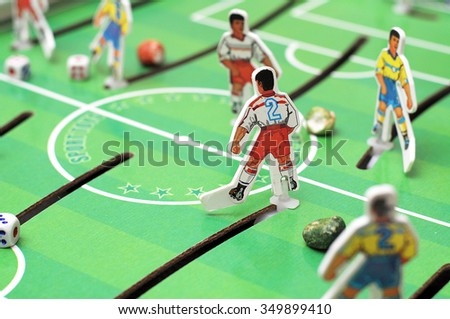 table football unit for children and adults playing