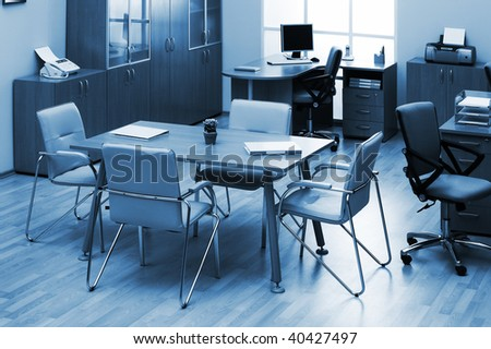 table for negotiations in a modern office