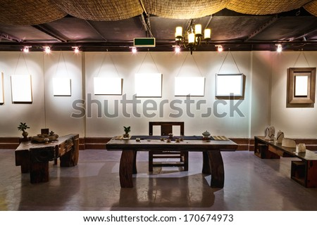 Table for tea ceremony in japanese or chinese restaurant