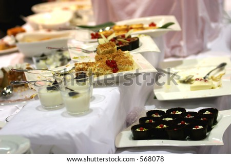 Table full of various sweets
