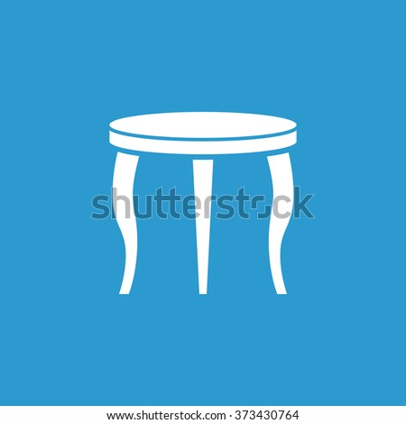 table icon, on blue background
