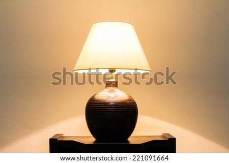 table lamp - stock photo