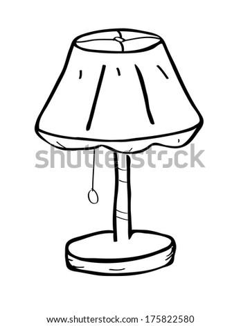 Table lamp doodle stock illustration 175822580 shutterstock table lamp doodle aloadofball Choice Image